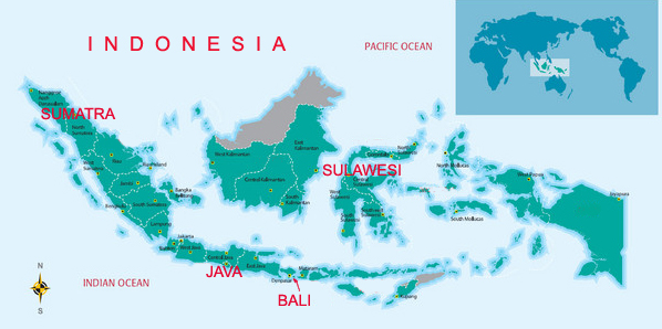 Indonesia map web